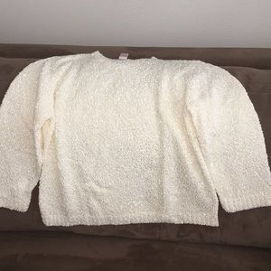 Off white/creamy white texture sweater